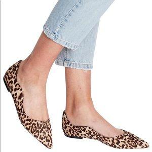 Sam Edelman Leopard Rosalie Flats sz 11 calf hair